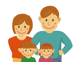 Family illustration (image) / from the waist up