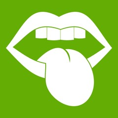 Rock emblem icon green