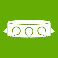 Rock collar icon green