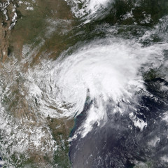 Tropical Storm Harvey. Elements of this image are furnished by NASA