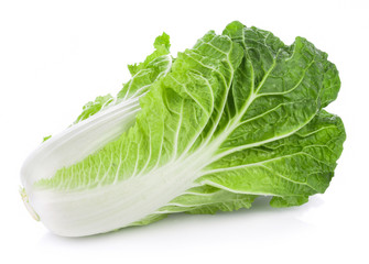 fresh chinese cabbage on a white background