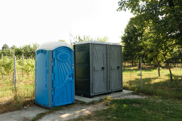 public toilets installed in green park