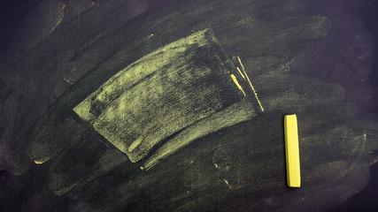 chalk pastels on a school blackboard for a background.