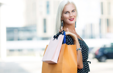 Image of woman with purchases