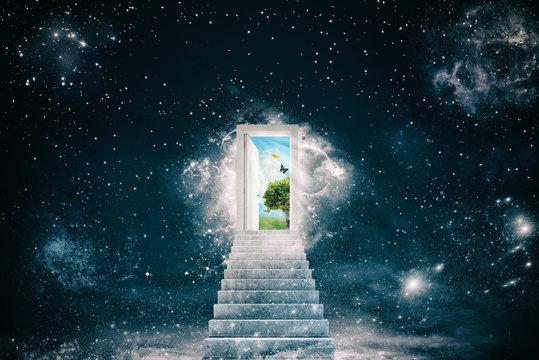 New green worlds behind the door