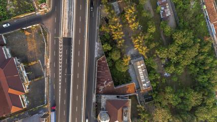 Aerial Road View