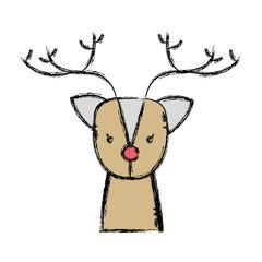 cute reindeer wildlife animal reserve