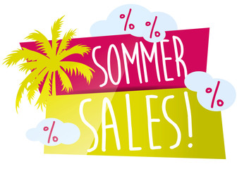 Sommer-Sales! Button, Icon