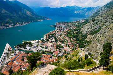 Magnificent view of Kotor Bay Montenegro