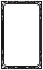 Decorative frames and borders, on white background, Thai pattern