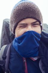 Portrait of young traveler, teenager