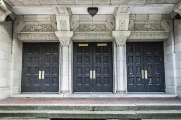 Vintage doorways to a classic building