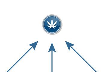 Pfeile zeigen auf Button - Marihuana