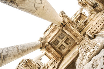 Ceiling Of Celsus Library At Ephesus Ancient City