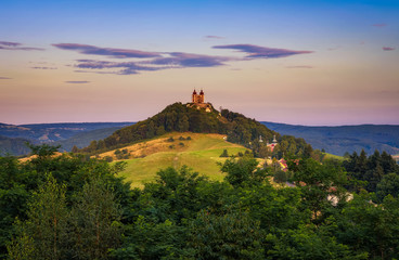 Upper church with two towers in Banska Stiavnica, Slovakia Wall mural