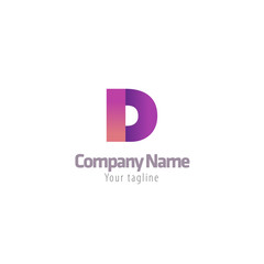 Abstract D letter logotype