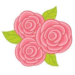 Vector Pastel Roses