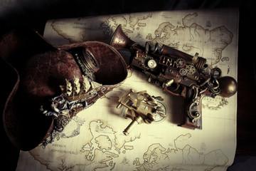 Steampunk pistola pirata