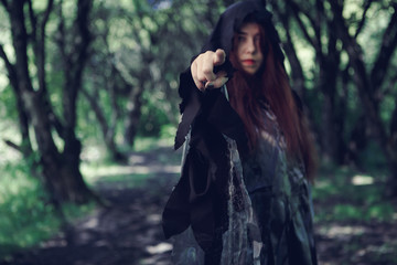 Foto of forest with witch