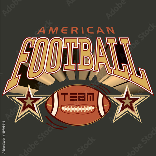 American Football Team Logo Stokovoe Izobrazhenie I Royalti Fri