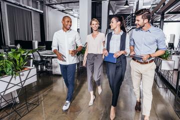 confident multiethnic business people