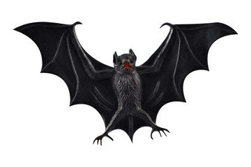 Bat stock images. Bat toy on a white background