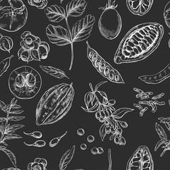 Superfood. Seamless botanical pattern