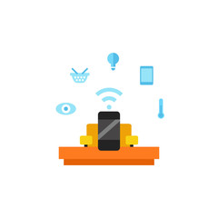 Smartphone as home assistant icon