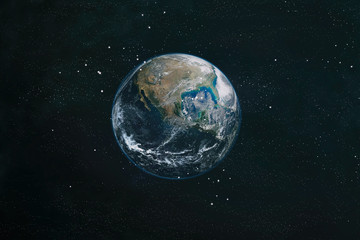 The Earth from space. This image elements furnished by NASA. Wall mural