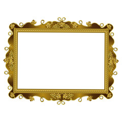 Decorative frame of squared golden color