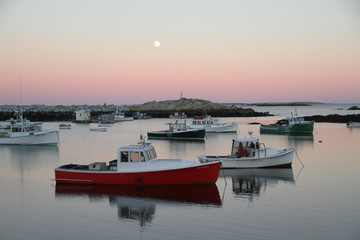 Moonrise Matinicus Harbor, Maine
