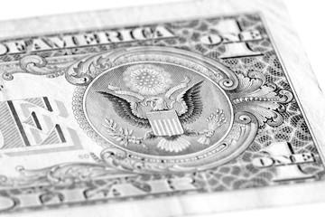 American Eagle on one USA dollar bill