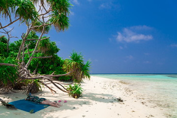 Maldives,  white sand, palms