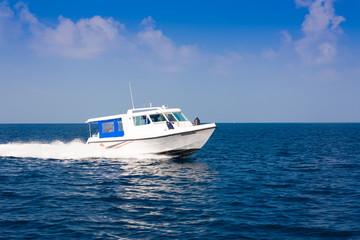 Maldives,  Male, speedboat