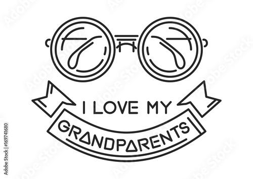 8752570c399 I love my Grandparents. Line icon design for National Grandparents ...