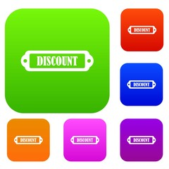 Discount label set collection
