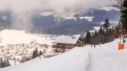 On the slopes of the ski resort Soll, Tyrol, Austria