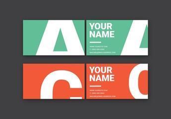 Bold Monogram Business Card Set