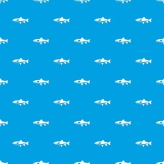 Fish pattern seamless blue