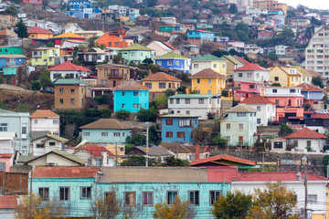 Fototapete - Colorful Houses in Valparaiso