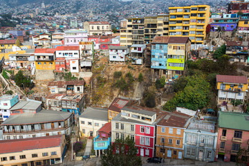Fototapete - Valparaiso Cityscape View