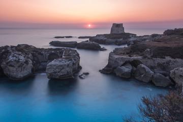 Magica Alba a Roca Vecchia Melendugno in Salento, Puglia