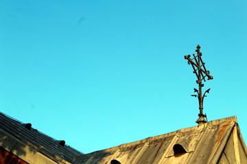 Kreuz auf der Antoniuskapelle, Bedburg-West