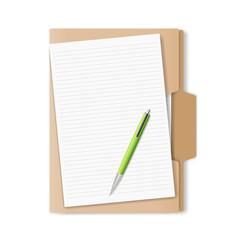 folder for papers. vector illustration