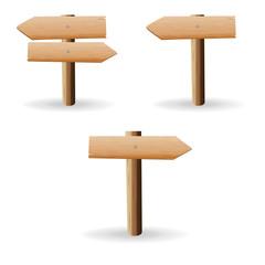 Wooden sign. vector illustration
