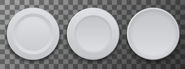 vector modern dish plate on transparent background.