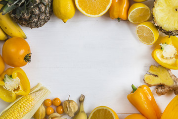 Yellow fruit landscape frame