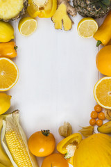Yellow fruit portrait frame