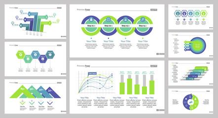 Nine Marketing Charts Slide Templates Set