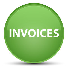 Invoices special soft green round button
